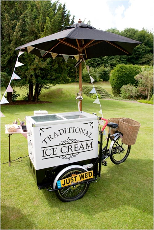 Tricycle ice cream hire for weddings and events in Fife, Scotland
